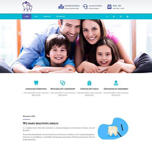 تصویر نمونه کار وب سایت Family Dental Care